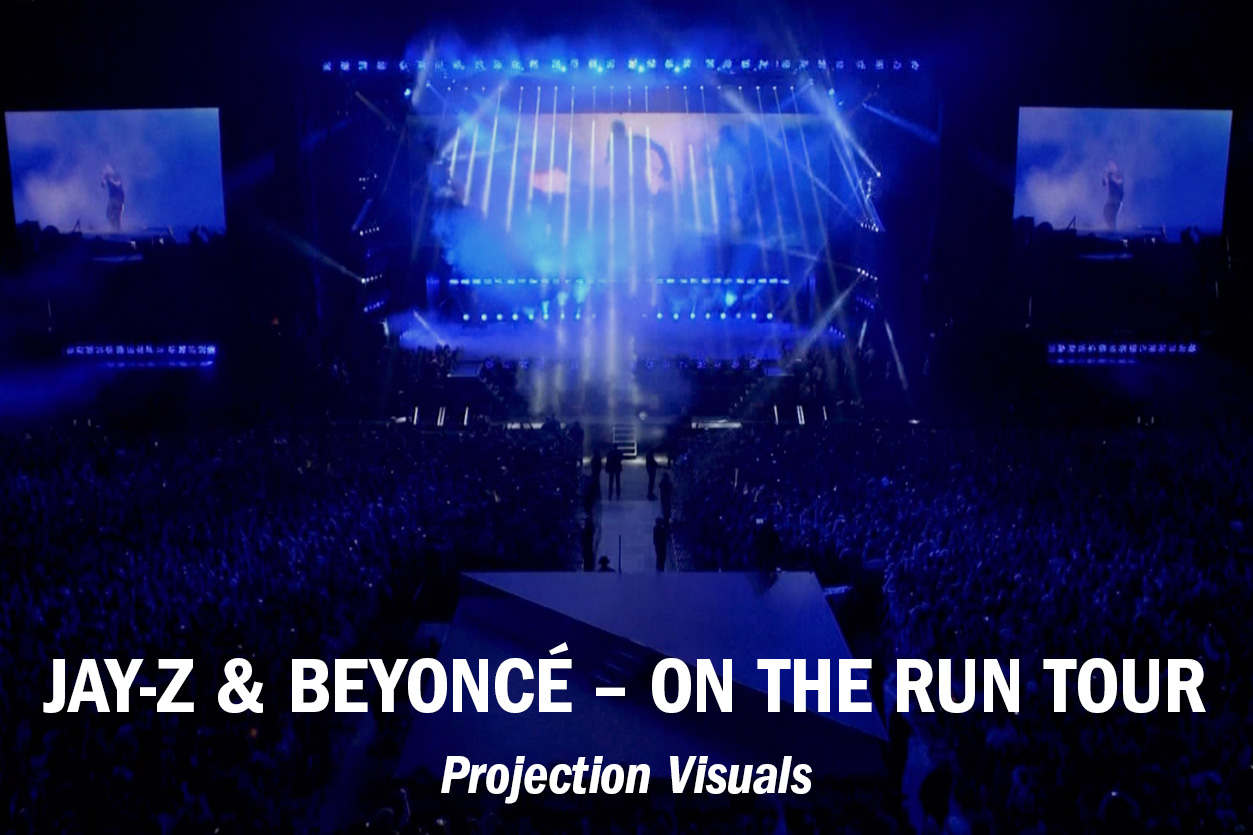 "J+B ""On The Run"" Tour – Projection Visuals /// Role: Edit + VFX"