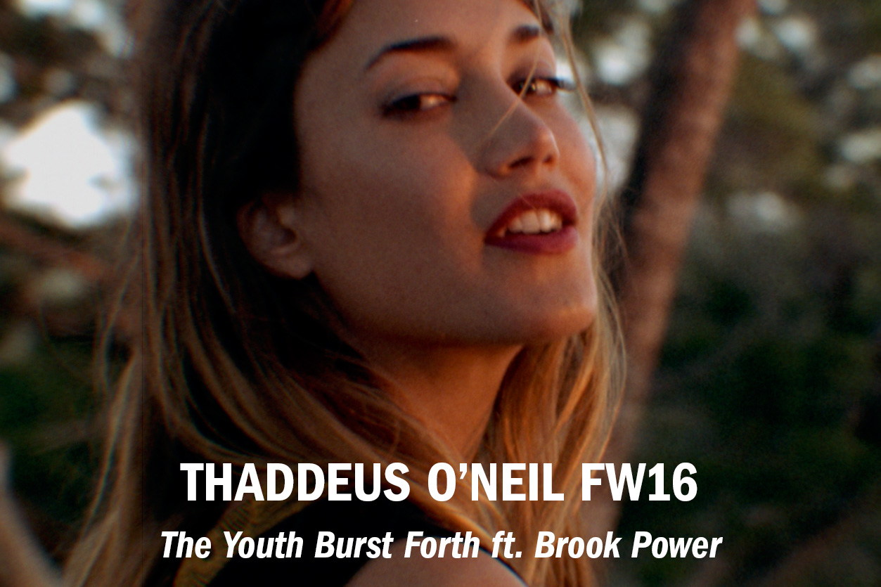 "Thaddeus O'Neil Presents ""The Youth Burst Forth"" feat. Brook Power, dir. Nico Guilis /// Role: DoP + Editor"